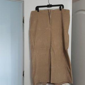 Corduroy  long black skirt